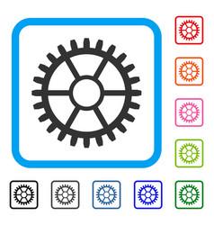 clock wheel framed icon vector image