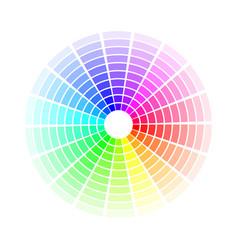 color circle bright colorful rainbow shades vector image