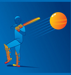 cricket player hitting big shot vector image