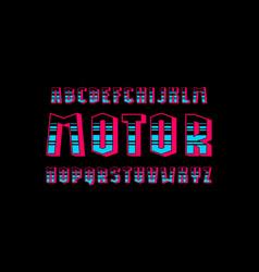 Decorative geometric sans serif bulk font vector