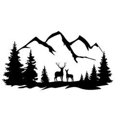 deer in wilderness vector image