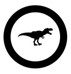 dinosaur tyrannosaurus t rex icon black color in vector image