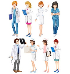 Doctors and nurses vector image