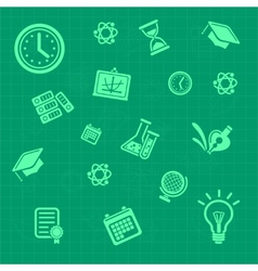 Education background green Pattern vector