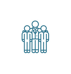 encouraging employees linear icon concept vector image