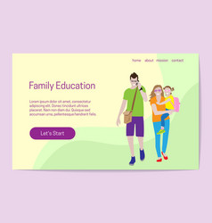 family education concept man is talking on mobile vector image