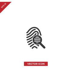 fingerprint search icon vector image