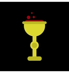 Flat icon on background of cup potion vector