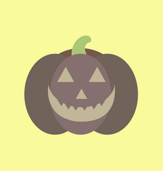 Flat icon stylish background halloween pumpkin vector