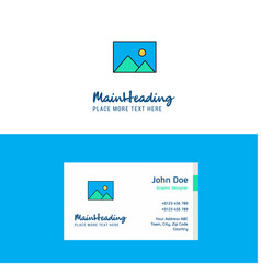 flat image logo and visiting card template vector image