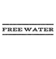 Free Water Watermark Stamp vector