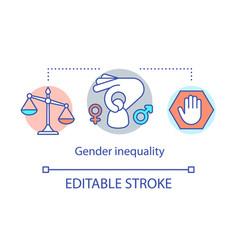 Gender inequality concept icon sex discrimination vector
