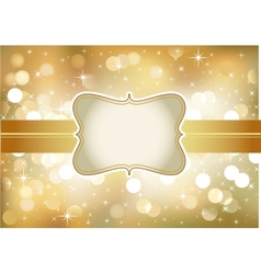 Golden invitation vector image
