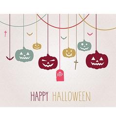 Halloween background design vector