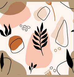 Hand drawn seamless floral organic pattern vector