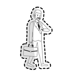 Happy businessman icon image vector