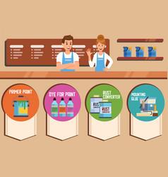Hardware online store or shop flat banner vector