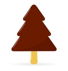 Ice Cream Christmas Tree vector image