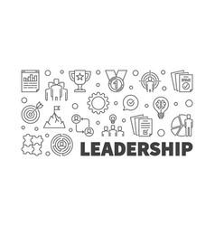 Leadership or banner in vector