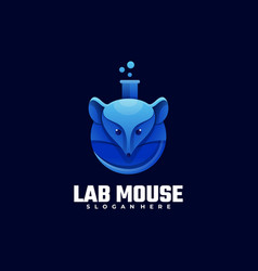 logo lab mouse gradient colorful style vector image