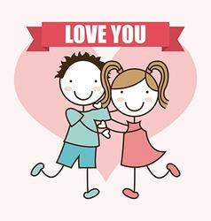 love kids vector image
