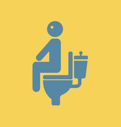 Man with diarrhea vector