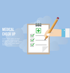 medical check up concept design template vector image
