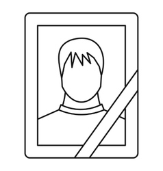 Memory portrait icon outline style vector
