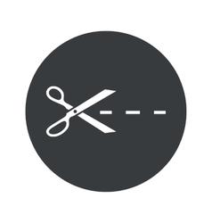 Monochrome round cut icon vector