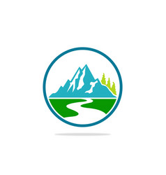 Mountain landscape hill logo vector