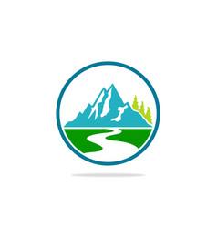 mountain landscape hill logo vector image