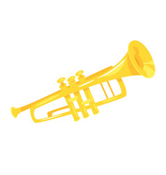 music instrument - trumpet vector image