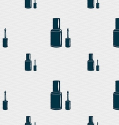 NAIL POLISH BOTTLE icon sign Seamless pattern with vector image