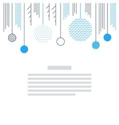 New Year Christmas card template Xmas minimalistic vector image