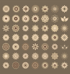 pack of 49 transparent light vintage abstract vector image