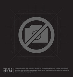 Photo not allowed icon vector