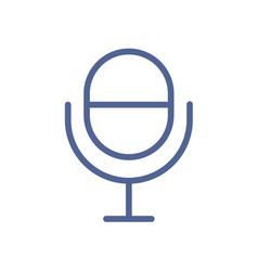 radio microphone icon in line art style studio vector image