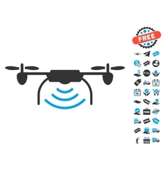 Radio Transmitter Airdrone Icon With Free Bonus vector
