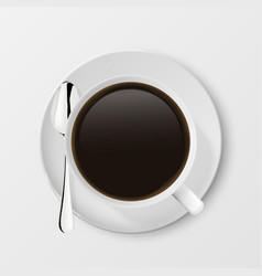 realistic 3d glossy blank white coffee cup vector image