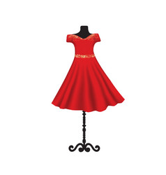 red dress on mannequin vector image