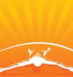 relax orange vector image vector image