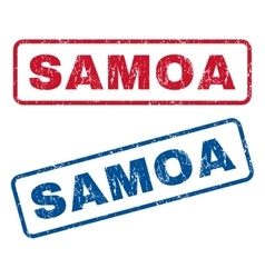 Samoa rubber stamps vector