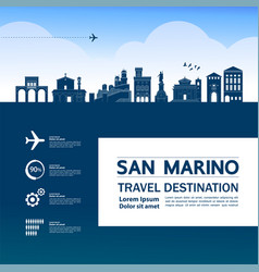 san marino travel destination vector image