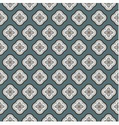 seamless geometric quatrefoil rosette vector image