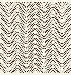 seamless pattern with ripple black lines vector image