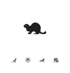 Set of 5 editable animal icons includes symbols vector