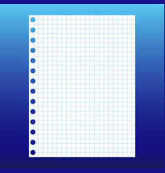 sheet of exercise books in a box isolated on white vector image
