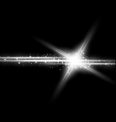 shining star with a stardust white color vector image