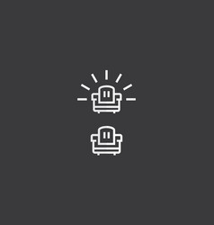 sofa interior logo icon vector image