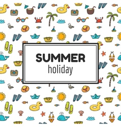 Summer holiday Summer tropical vacation background vector